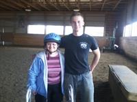 Sis, from Bright View Nursing Home and Volunteer Alex Luther