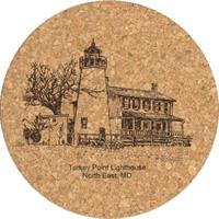 Cork Trivet - Turkey Point Lighthouse