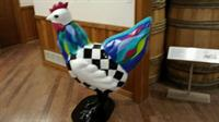 Another artistic bird done for the Delmarva Chicken festival, on display at the Chesapeake Exploration Ctr
