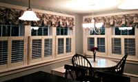 Kingston Valance over Cafe Shutters brighten up this Client's Kitchen!