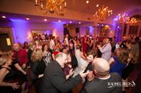 Joseph Ambler Inn Wedding Reception Dancing + Accent Lighting