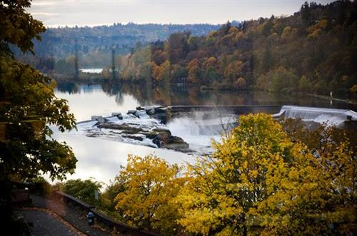 The Tumwater Room, overlooking the historic Willamette Falls.  A beautiful location for weddings and receptions.