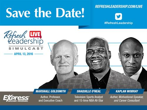 Save the Date! Shaqfu Refresh Leadership Coming April 13th 2016.