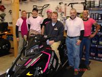 Polaris Sales Rich Sorochak, Parts Kyle Magnant, Technician Neil Conant, General Manager Eric Kenyon, Sales Butch Greenwood, and Technician Ed Barna.