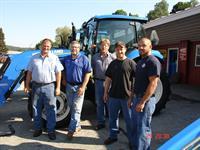 AG. Mechanics Scott Brock, Service Manager Scott Berry, Truck Driver Steve Sargeant, Jared Mills, Kevin Peake.