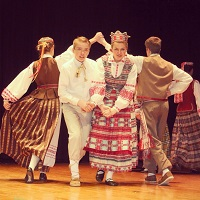"""Grandis"" Dance Ensemble performing at the Lithuanian Independence Day Celebration 2014"