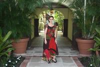 Palm Beach Harpist Esther Underhay at Brazilian Court