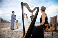 A Four Seasons Beach Wedding with The Elegant Harp