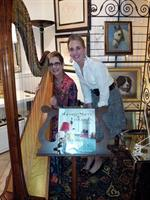 Lovely playing for Book signing by Maureen Footer at Decorative Arts and Fine Antiques