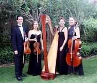 The Elegant Harp String Quartet performs at Ritz Carlton Key Biscayne Florida