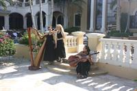 The Elegant Harp Chamber Trio perform for Fort Lauderdale Wedding