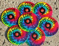 New tie dye shop sticker