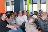 CanopyBoulder entrepreneurs listen to a mentor presentation.
