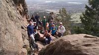 The CanopyBoulder Spring Class weekend hike up the iconic Boulder Flatirons with Boulder in the background.  Well, maybe it was a march.