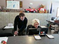 Sean and Kindra hard at work!