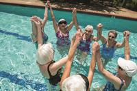 Aquatic activities abound in our community pool.