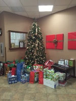 AbbyBank collects gifts for the Angel Tree each year. In 2015 we helped provide gifts for 31 children.