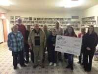 AbbyBank and Kramer's County Market helped to donate over $3,000 to the Community United Pantry in Colby