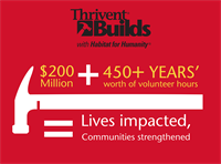 Join us in 2015 at a Thrivent Build in Wausau, or Eau Claire, WI