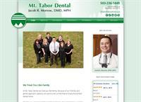Portland dental office, Mt. Tabor Dental, WordPress website, HIPAA forms