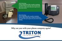 Triton Hosted PBX Service - Easy to use, simple to manage, 40+ features and of course, cost effective for the small business owner.