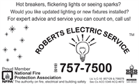 Call us, your experts with answers to electric issues!