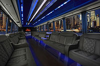 Top Dog Limo Bus Luxury Interior