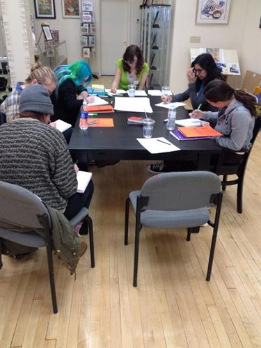 Students at our March 2015 Fictional Worldbuilding workshop.