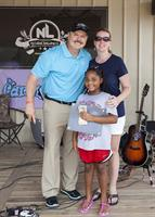 With Don and Caring4Katy Kid (Tayden, age 6 battling brain cancer) @ Christmas in July Event 2015