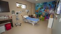 We have 7 private rooms including a special pediatric room.