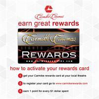 Earn rewards points every time you watch a movie!