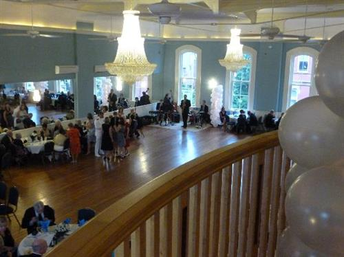 Stanly Hall Ballroom viewed from the balcony
