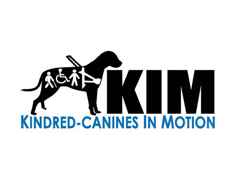 Our KIM logo...We were blessed to have this talent donated to Kindred-Canines In Motion