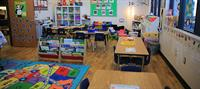 Bright, friendly classrooms encourage brain-friendly learning.