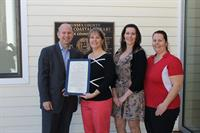 Getting the 'Cleaing For A Reason' proclamation from the Governor!