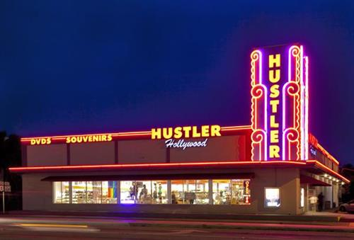 Hustler Hollywood at night!
