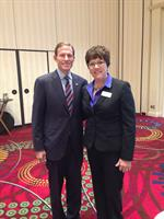 Interim Executive Director Cheryl Chandler with Richard Blumenthal