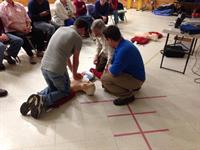 Heartsaver CPR class for a church