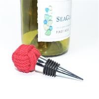 Wine Stopper Handmade onto silicon gasket stopper Monkey fist nautical