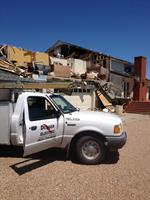 Tornado victim relief.  Believe it or not, that house was remodeled, better than before!