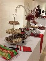 Dessert Station at Christmas Reception