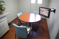 Patient consultation room with access to digital x-rays and electronic patient records