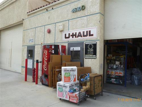 U-Haul moving supplies