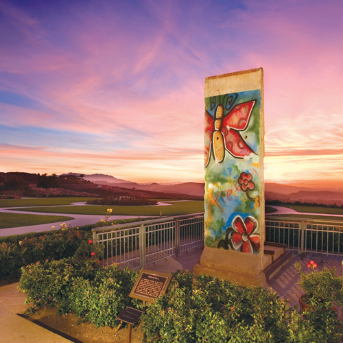 Touch an Authentic Piece of the Berlin Wall at the Reagan Library