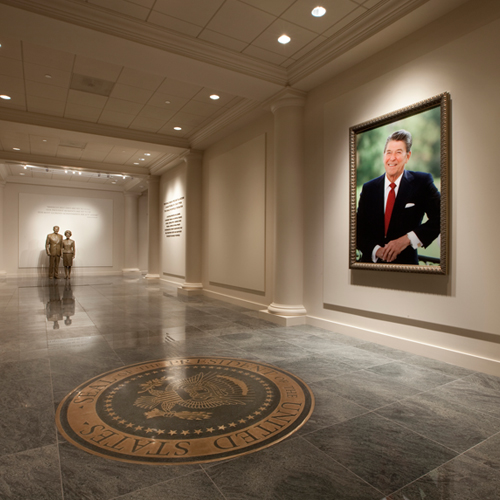 The Entrance Gallery at the Reagan Library