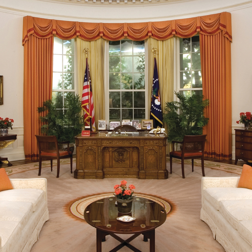 View a Full Scale Replica of the White House Oval Office at the Reagan Library