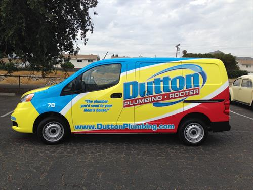 Full wrap with reflective overlays for Dutton Plumbing