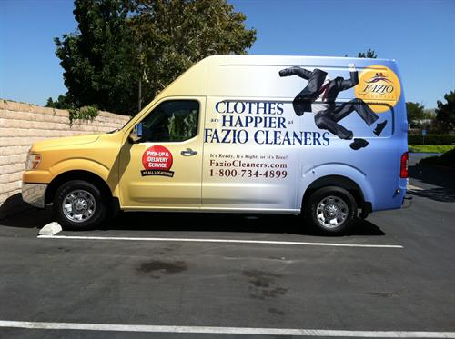 Full Wrap on Nissan NV van for Fazio Cleaners