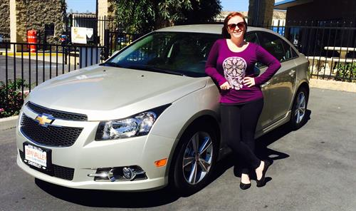 Congratulations to Lauren on purchasing her new Chevy Cruze!