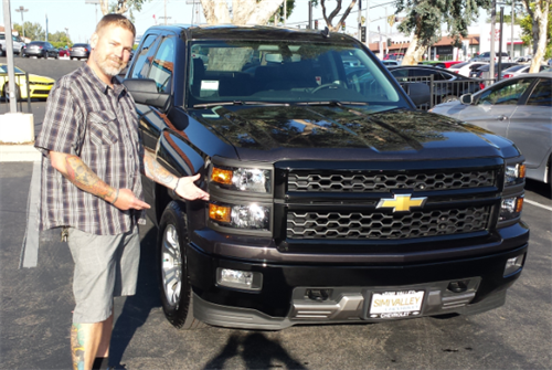 Our Happy Customer With His New Silverado